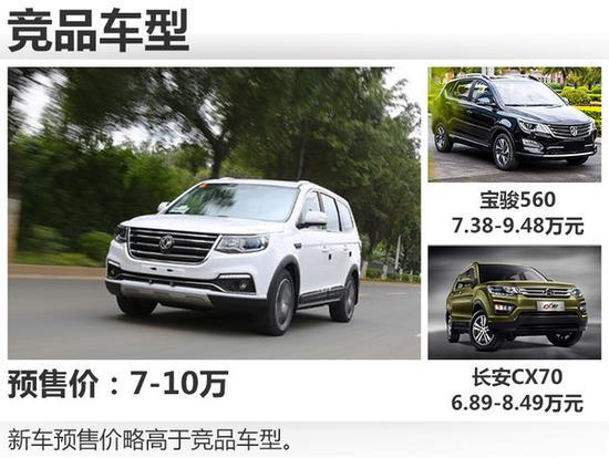 元级别的中型7座SUV车型中,东风风行SX6将于-风行全新7座SUV高清图片