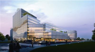 原先龙翔公交站的位置将建成12层的地铁上盖物业。