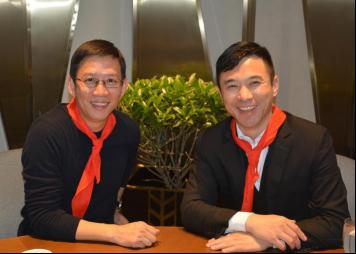 吴晓波(左)与虞涤新(右)