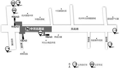 中河北路站示意图