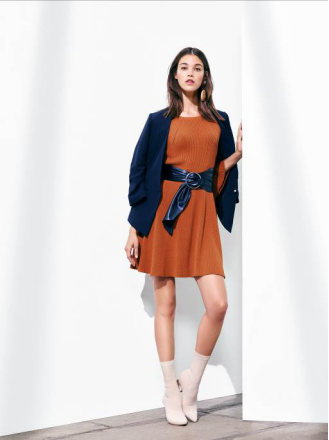 Etam Paris 秋季针织连衣裙