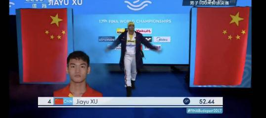 在预赛和半决赛中,徐嘉余也分别以预赛52秒77,半决赛52秒44的成绩,轻松获得第一,晋级决赛。