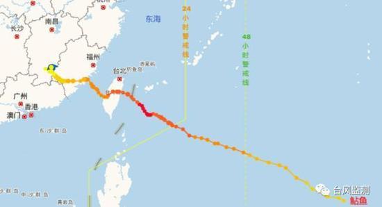 ▲1617号台风鲇鱼路径