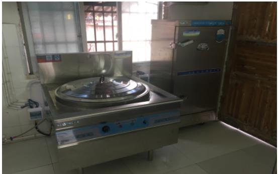 孟山都基金会为讨瓦小学山村幼儿园捐赠的厨房设备