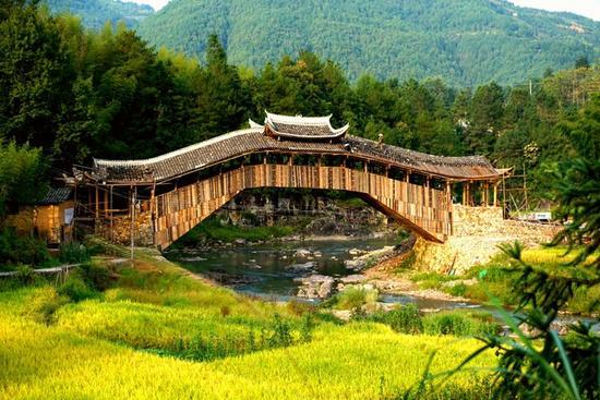 昔日廊桥重现令村民们分外欣喜