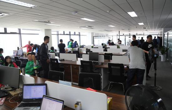 图为:涉案公司内部场景。杭州警方供图