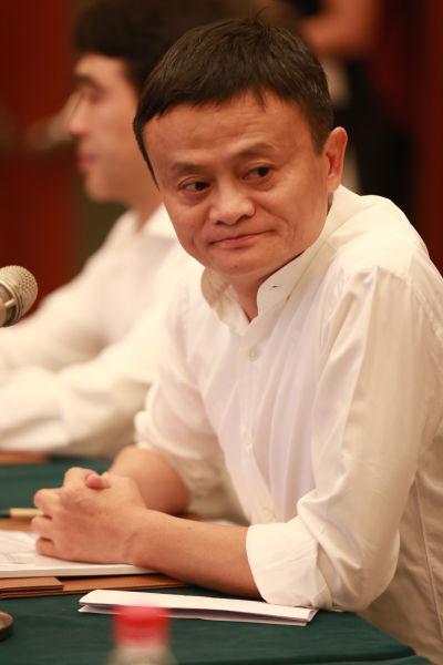 浙商总会会长马云。 张敏 摄