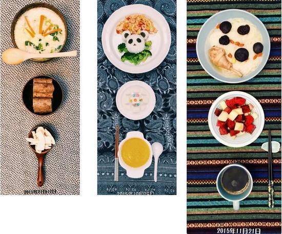 """从此以后,餐盘成了她的新画布,做""""艺术早餐""""就成为了她每天的乐趣。"""