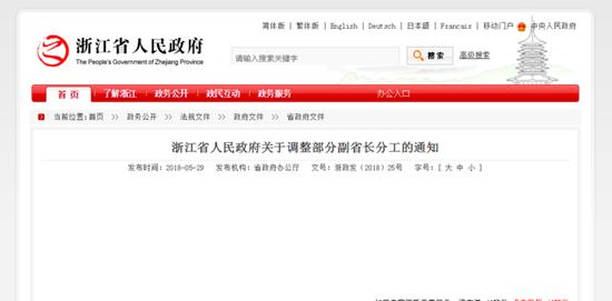 记者从省政府网站获悉,近日省政府调整部分副省长分工,具体如下: