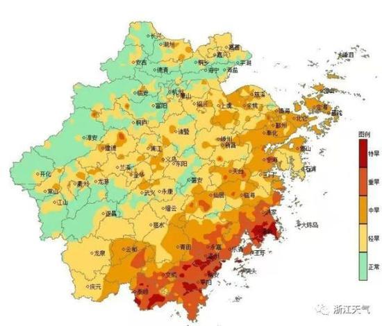 浙江平均无降雨日数已有35天超常年同期 气温还要升吗