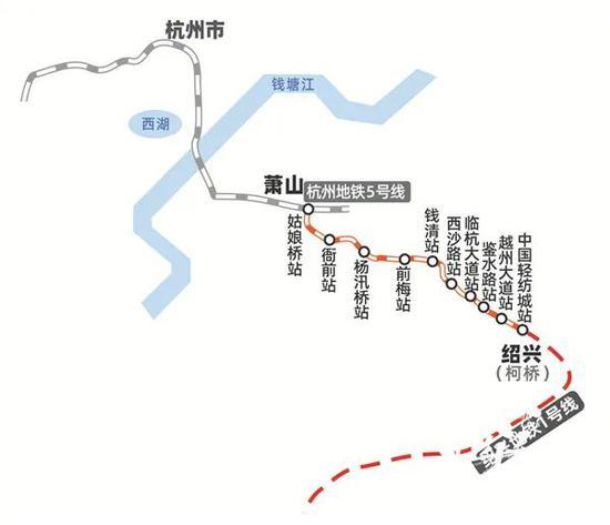 杭绍城际铁路线路图