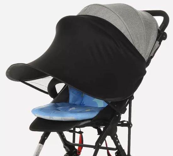 婴儿车延伸伞棚更利于防晒。