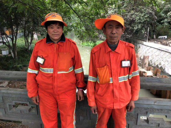 环卫工夫妇刘正刚与张志红