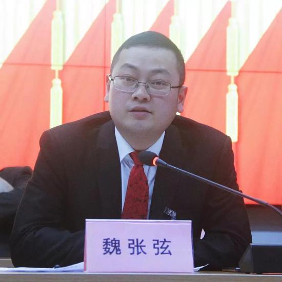 沙溪镇新一任镇长魏张弦发言。