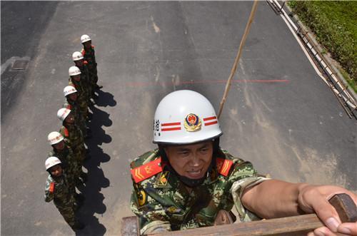 图为训练场景。 浙江消防总队提供