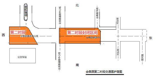 会昌路11条公交线路改道