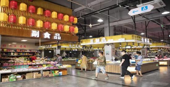 滨江农贸市场地域文化特色经营摊位