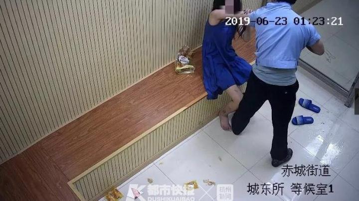7月2日,杨某涉嫌妨害公务罪被天台警方刑事拘留。