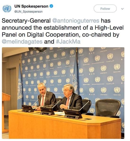 马?#39057;?#20219;联合国第三个职务 联合国秘书长宣布任命