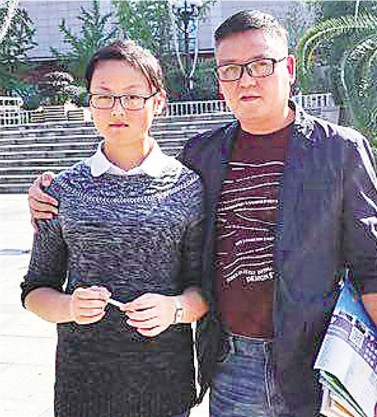 林章怡和她爸爸。