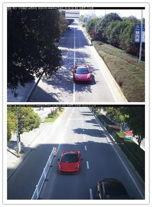 违法车辆的监控视频截图