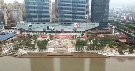 黄岩江北公园东段工程正在加速推进中 力争九月底建成