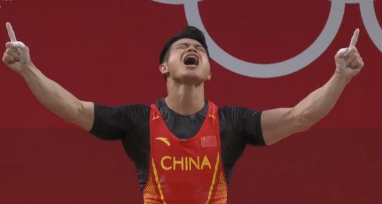 浙江老将石智勇斩获奥运会举重金牌 并打破世界纪录