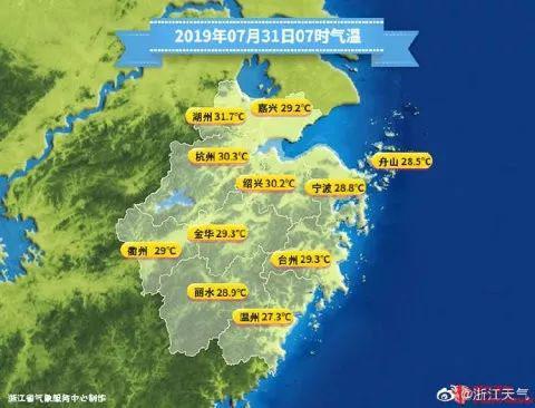 9:19,杭州市气象台发布了今年第六个高温橙色预警信号: