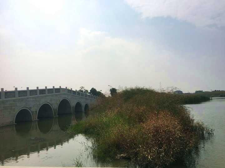 紧邻余杭,海宁许村镇的龙渡湖公园
