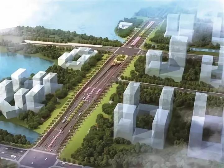 良睦路(文二西路-02省道)工程效果图