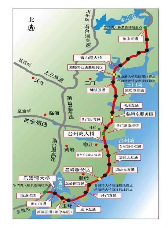 沿海高速台州段