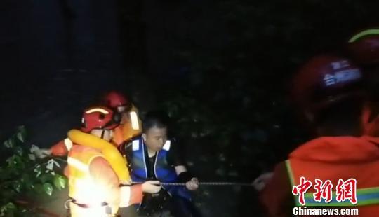 图为:救援现场。仙居县委宣传部供图