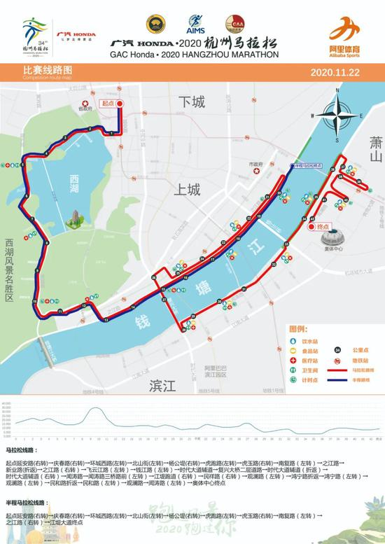 本周日杭州马拉松开跑 107条公交线路将调整