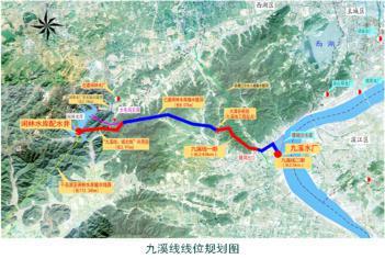 九溪线线位规划图。 杭建宣 摄