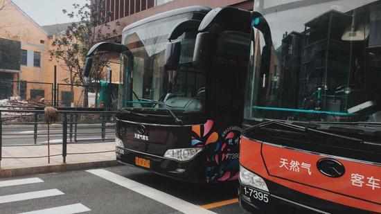 杭州公交。 钱晨菲 摄