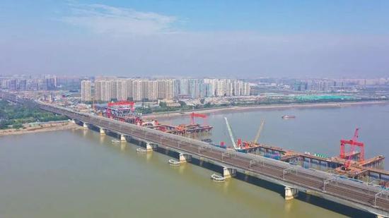 钱塘江新建大桥整体即将成型 最快将于今年6月合龙