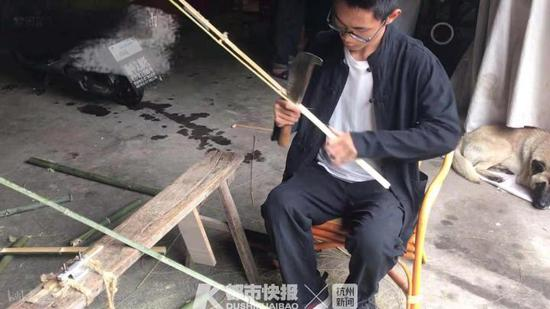 哥哥是學霸 諸暨小伙卻選擇輟學做篾匠開設竹編工作室