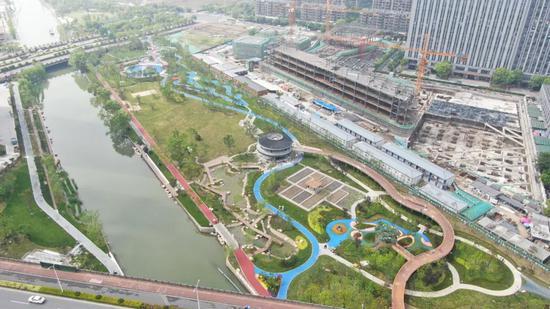 三期核心公园俯视图