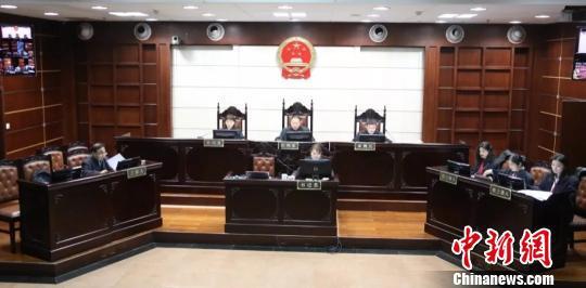 庭审现场。浙江高院