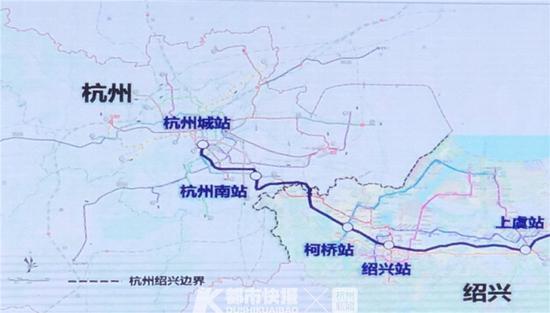 现场展示的萧甬、浙赣铁路通勤化列车运行线路设想