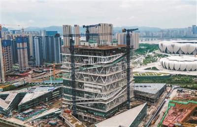 杭州奥体博览城综合训练馆封顶 计划年底完工(图)
