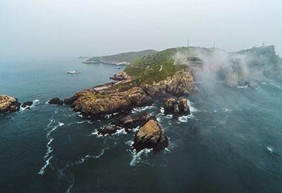 象山渔山岛云雾景象。鲁威摄