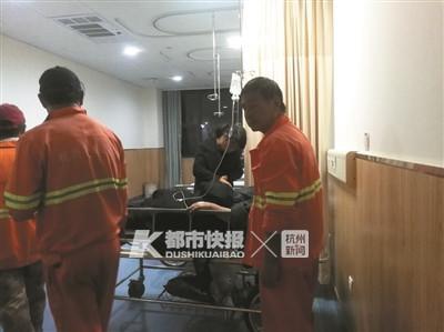 伤者在医院接受救治