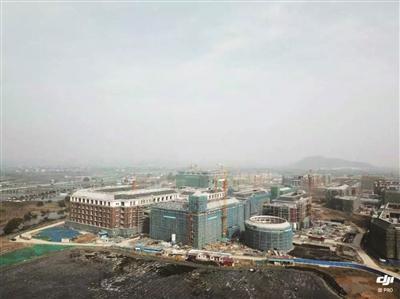 建设中的浙江工业大学德清校区