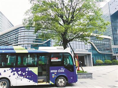 公交开到写字楼楼下 提升乘客出行效率