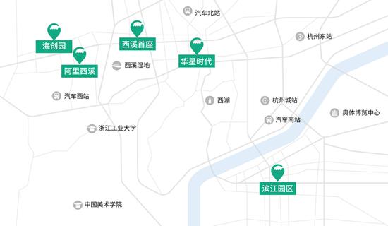 杭州互联网人加班地图