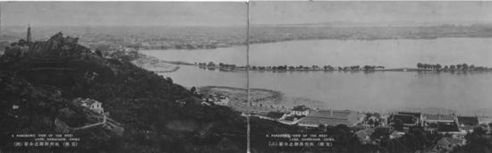 西湖全景老照片(历史资料)