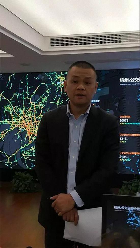 杭州公交集团总经理翁军 本文图均为 都市快报微信公众号 图