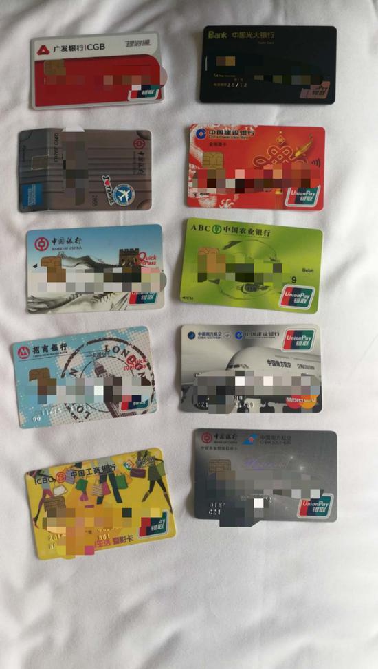 警方缴获的涉案信用卡 吴兴公安提供