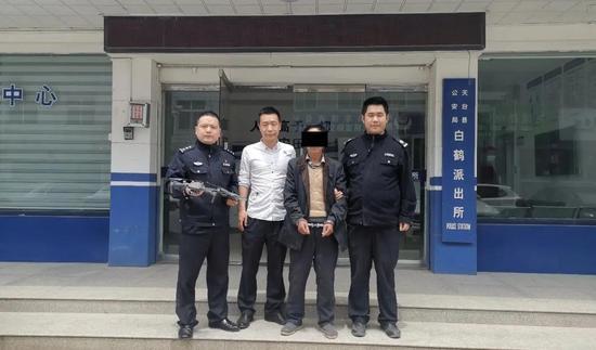 天台县公安局借助无人机成功抓获盗窃嫌疑人